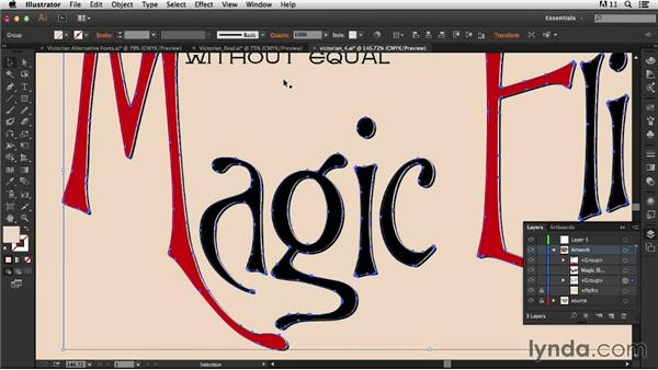 Adding and customizing an offset shadow: Type Project: Victorian Ad