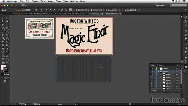 Adding woodcut shading: Type Project: Victorian Ad