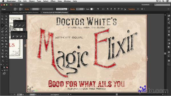 Creating the frame: Type Project: Victorian Ad