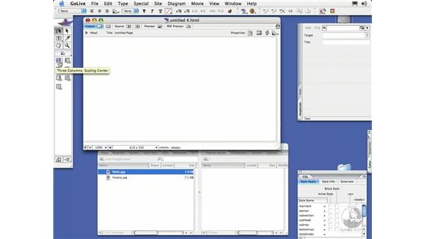CSS Objects: GoLive CS2 Essential Training