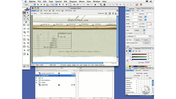 Creating a Form: GoLive CS2 Essential Training