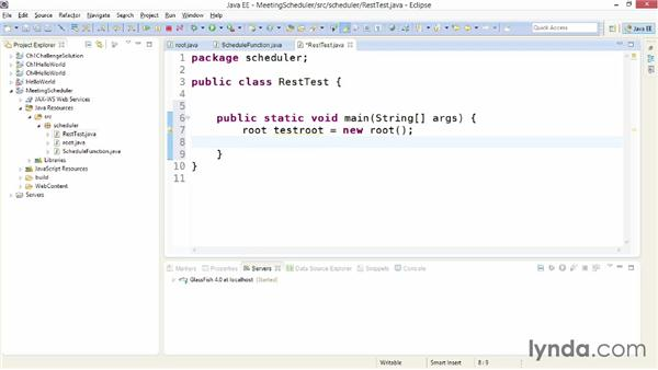 Testing a web service without a client: Building Web Services with Java EE
