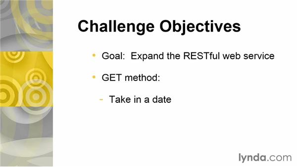 Challenge: Expand the RESTful web service: Building Web Services with Java EE