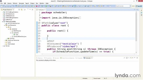 Sending different data types: Building Web Services with Java EE