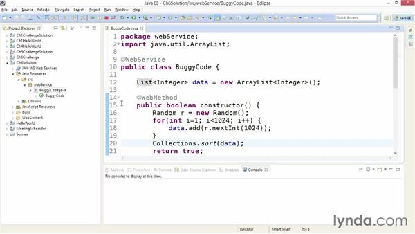 Solution: Debug and optimize a sample web service: Building Web Services with Java EE