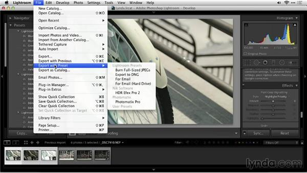Loading from Lightroom: Up and Running with Photomatix Pro