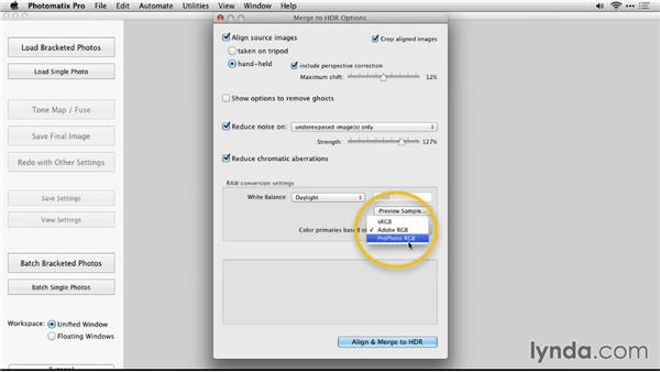 When to load raw files: Up and Running with Photomatix Pro