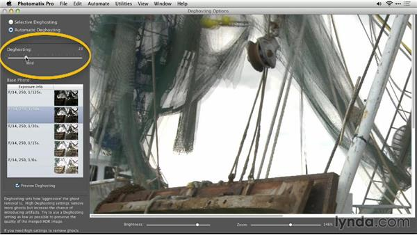 Removing ghost images with automatic deghosting: Up and Running with Photomatix Pro