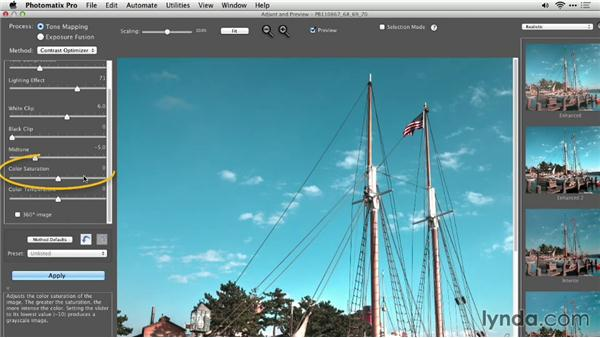 Choosing the color primaries and white balance: Up and Running with Photomatix Pro