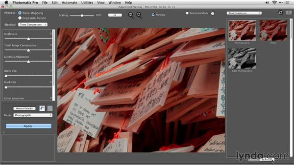 Working with presets: Up and Running with Photomatix Pro