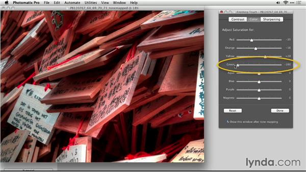 Add finishing touches: Up and Running with Photomatix Pro