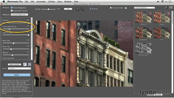 The Contrast Optimizer workflow: Up and Running with Photomatix Pro