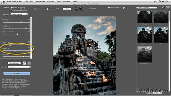 Fusing a single image: Up and Running with Photomatix Pro