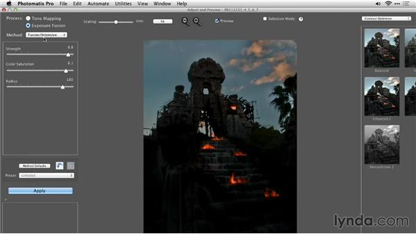 Comparing methods: Up and Running with Photomatix Pro