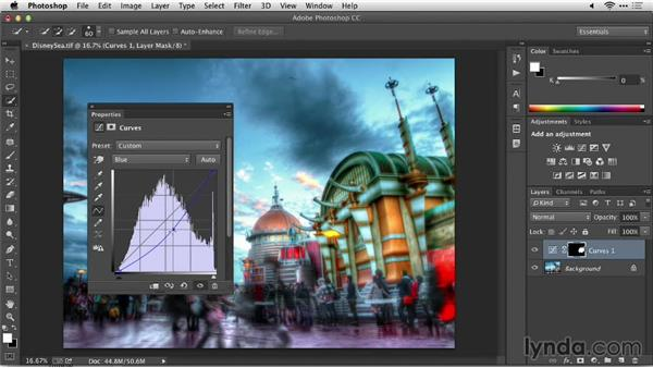Removing color casts: Up and Running with Photomatix Pro
