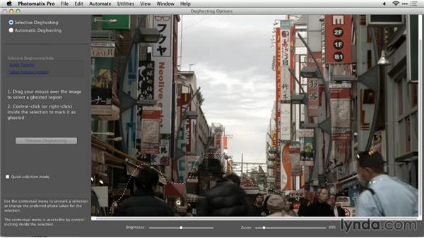 Removing tough ghosts: Up and Running with Photomatix Pro
