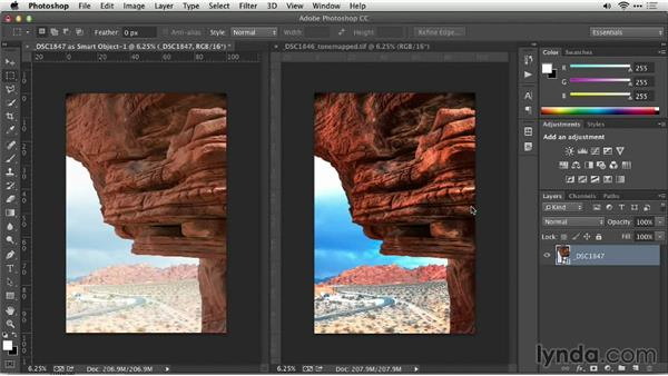 Challenge: Preserving original color and applying contrast: Up and Running with Photomatix Pro