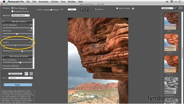 Solution: Preserving original color and applying contrast: Up and Running with Photomatix Pro