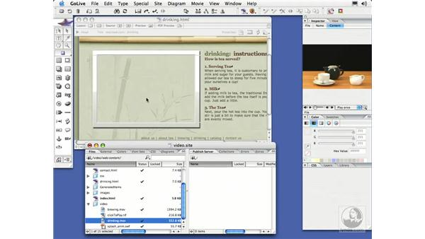 Adding a Click-to-Play Link: GoLive CS2 Essential Training