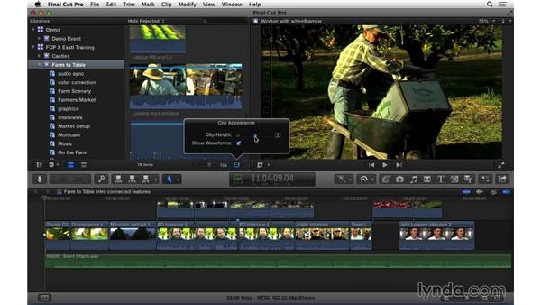 Taking a tour of the FCP X interface: Final Cut Pro X 10.1.x Essential Training