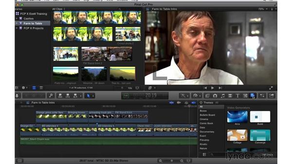 Accessing additional tools: Final Cut Pro X 10.1.x Essential Training
