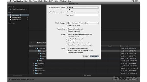 Creating and organizing events from scratch: Final Cut Pro X 10.1.x Essential Training