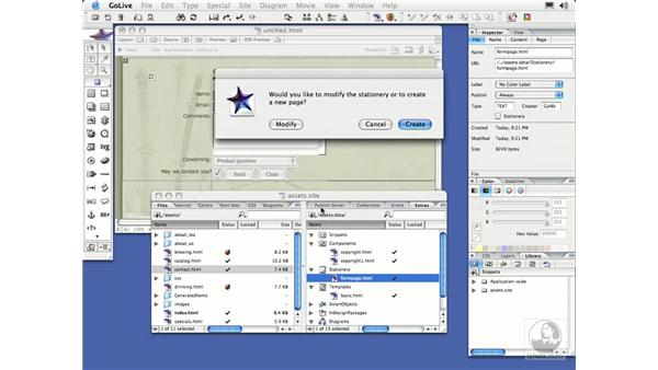 Stationery and Snippets: GoLive CS2 Essential Training