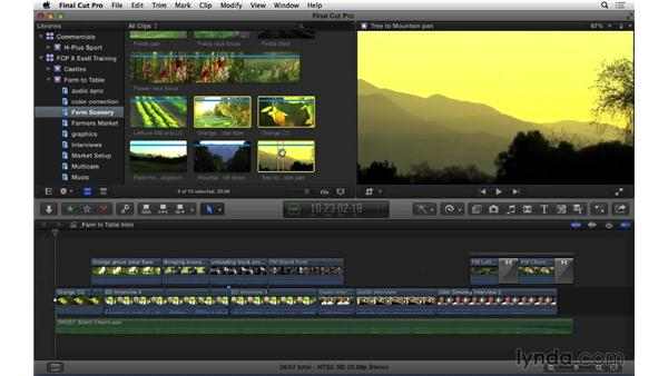 Basic library and event management: Final Cut Pro X 10.1.x Essential Training