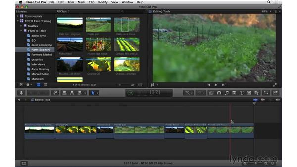 Understanding different types of editing tools: Final Cut Pro X 10.1.x Essential Training
