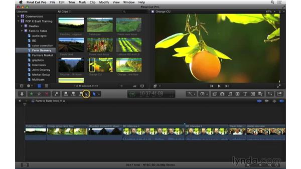 Performing video- and audio-only edits: Final Cut Pro X 10.1.x Essential Training