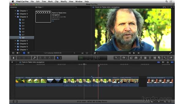 Understanding timeline navigation: Snapping, skimming, zooming, and panning.: Final Cut Pro X 10.1.x Essential Training