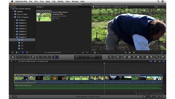 Nesting and breaking apart clips: Final Cut Pro X 10.1.x Essential Training