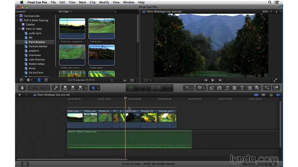 Performing quick extractions using Top and Tail edits: Final Cut Pro X 10.1.x Essential Training