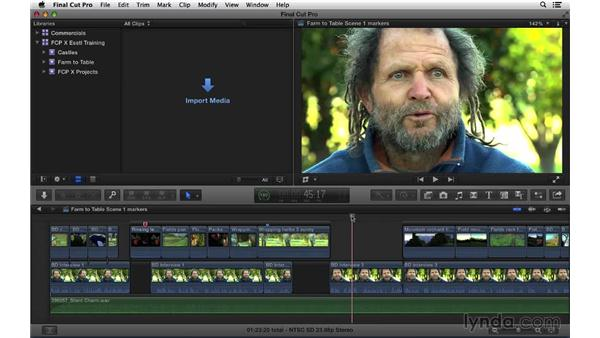 Working with markers: Final Cut Pro X 10.1.x Essential Training