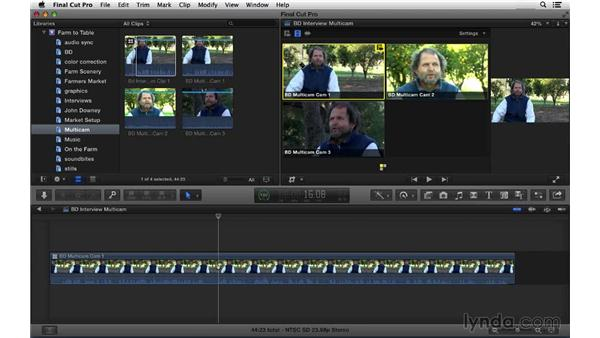 Performing a multicam edit: Final Cut Pro X 10.1.x Essential Training