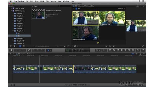 Refining the multicam edit: Final Cut Pro X 10.1.x Essential Training