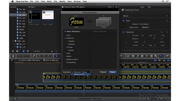 Working with layered Photoshop files: Final Cut Pro X 10.1.x Essential Training