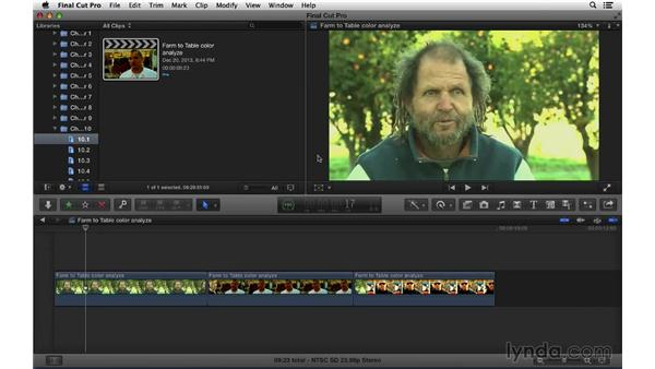 Analyzing footage for problems: Final Cut Pro X 10.1.x Essential Training
