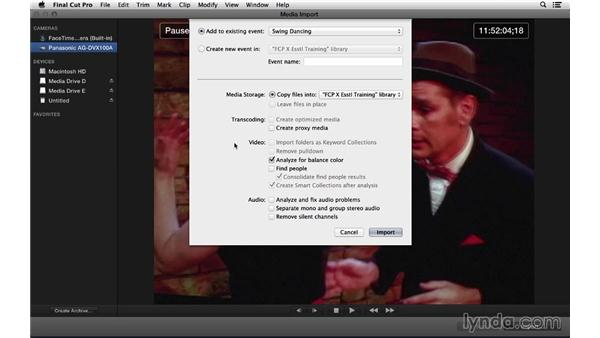 Capturing from tape: Final Cut Pro X 10.1.x Essential Training