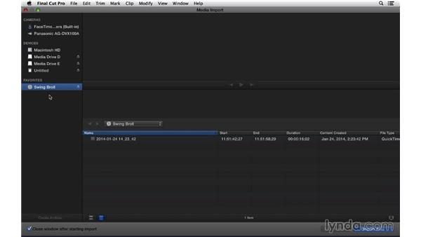 Making a tape archive: Final Cut Pro X 10.1.x Essential Training