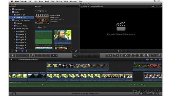 Managing events and libraries between different drives and destinations: Final Cut Pro X 10.1.x Essential Training