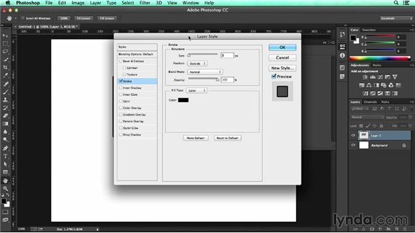 Preserving stroke width using layer effects: UX Design Tools: Photoshop