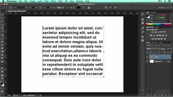 Adding placeholder text to a wireframe: UX Design Tools: Photoshop