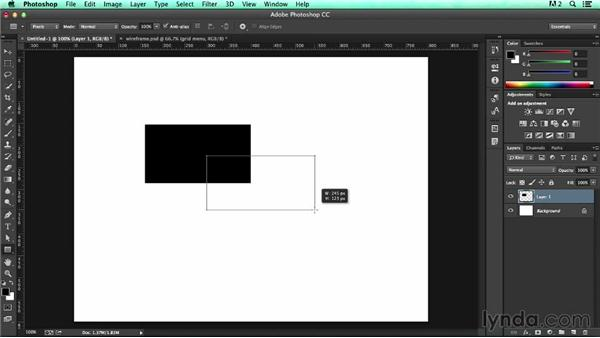 Stacking artwork using the Layers panel: UX Design Tools: Photoshop