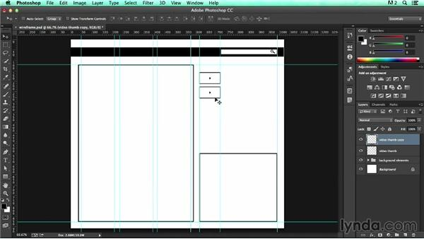 Using layer folders: UX Design Tools: Photoshop