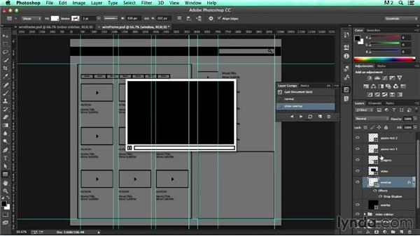 Solution: Create a video overlay: UX Design Tools: Photoshop