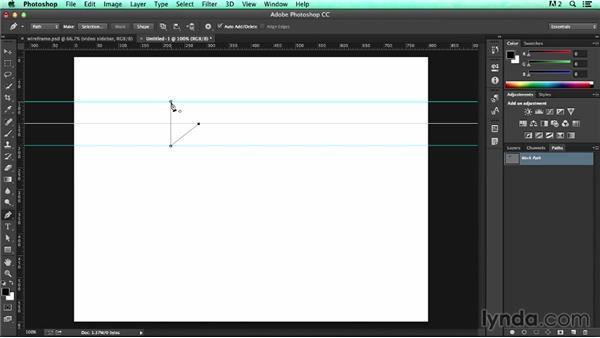 Creating and saving custom shapes: UX Design Tools: Photoshop