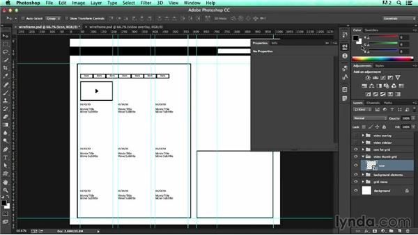 Grouping and reusing content inside Smart Objects: UX Design Tools: Photoshop
