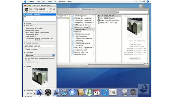 Gathering File Information: Mac OS X 10.4 Tiger Essential Training