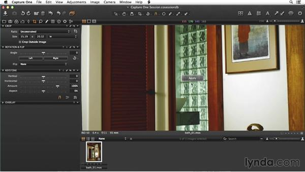 Adjusting details on the raw file of the bath: Enhancing Interior Architectural Photos